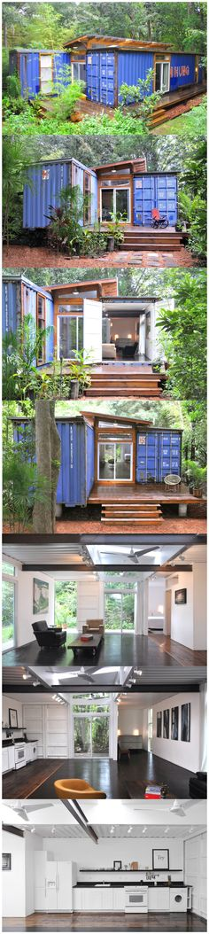 Simple easy to Build Shipping Container Home Plans. If you have been searching the Internet trying to find the BEST Detailed easy Step by Step Plans to build your Dream Shipping Container Home it doesn't get any easier than these. Cargo Container Homes, Building A Container Home, Container Buildings, Storage Container Homes, Container Architecture, Sustainable Architecture, Storage Containers, Shipping Container House Plans, Shipping Containers