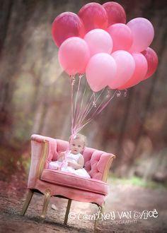 Baby Girl Pink Balloons