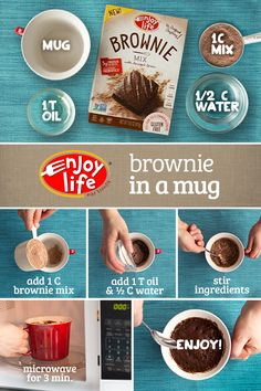 """Who says making allergy-friendly food is time-consuming? """"Bake"""" a brownie in just 3 minutes!"""