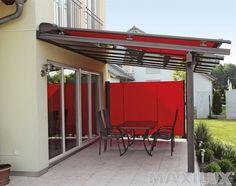 Komfortní hliníkové zastřešení terasy včetně integrované vrchní a boční markýzy
