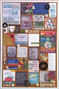 vision board- I like how this one looks more organized than others... the typical collage is way to busy and chaotic.