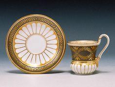 KPM Berlin Porcelain (Germany) —Tea Cup and Saucer,1910  (700x528)
