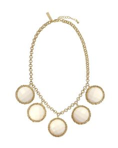 Mother-of-Pearl Five-Stone Necklace by Kendra Scott at Last Call by Neiman Marcus.