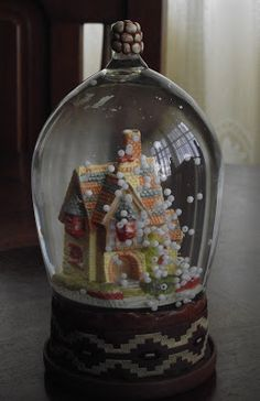 Preciosa. Snowball, Snow Globes, Repurposed, Upcycle, Diy Crafts, Glass, Christmas, Home Decor, It's Snowing