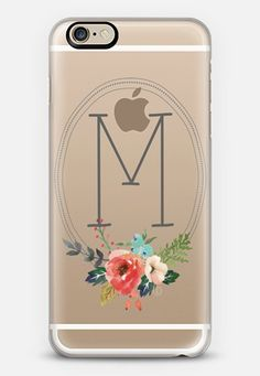 Watercolor Floral Monogram Initial M iPhone 6 case by Jande La'ulu | Casetify