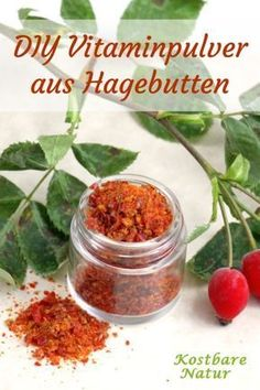 So leicht stellst du immunstärkendes Vitamin-Pulver mit Hagebutten her Rose hips are among the most vitamin C-rich fruits. With this homemade powder you can use your powers all year round. Vitamin A, Vitamin C Rich Fruits, Healthy Habits, Healthy Life, Healthy Eating, Healthy Recipes, Natural Medicine, Herbal Medicine, Vitamin C Pulver
