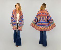 80's Southwestern Tapestry Coat by discoleafvintage on Etsy