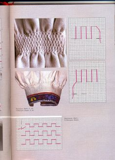 Embroidery Stitches, Embroidery Patterns, Fabric Manipulation Techniques, Canadian Smocking, Smocking Tutorial, Lace Knitting Patterns, Needlework, Diy And Crafts, Cross Stitch