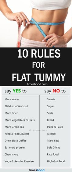 Foods To Avoid During Your Diet Plan for Weight Loss. 10 rules for flat tummy. Do and Don't weight loss tips you should know about if you want to reduce belly fat. Follow these weight loss tips for fast result.