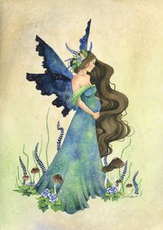 Fairy Mother by Jessie Barber Fairy Myth Mythical Mystical Legend Elf Fairy Fae Wings Fantasy Elves Faries