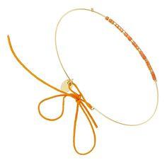 Bracelet jonc Alexandra (plaqué or-corail)