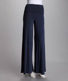 Take a look at this  Lizzie Parker Slate Blue Lizzie Flare Pants by Lizzie Parker, Ebene & Nina Leonard on #zulily today!