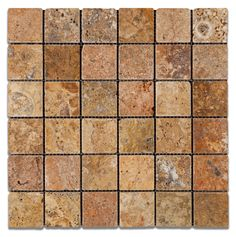 Mediterranean Ivory Tumbled Travertine Collection By