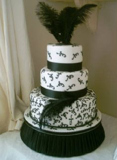 1920's cake theme - feathers