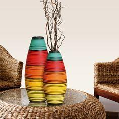 As peças coloridas podem fazer com que o ambiente fique mais harmônico e alegre.