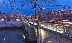 The Ponte Cavour bridge, Rome, Italy