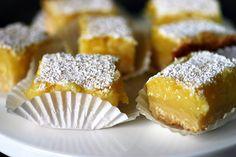 smitten kitchen lemon bars     note: i do the full sized lemon layer