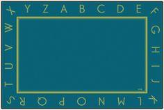 Just the Alphabet Blue Rug   CFK327XX   Carpets for Kids