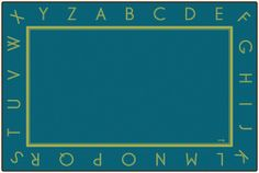 Just the Alphabet Blue Rug | CFK327XX | Carpets for Kids