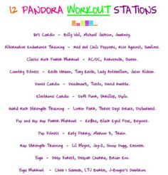Workout music for your mood. Check out all of the different stations!
