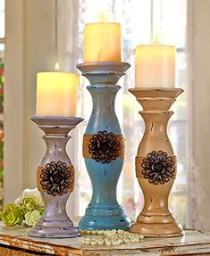 Distress vintage candle stand. Distress your home on a budget. affiliate link