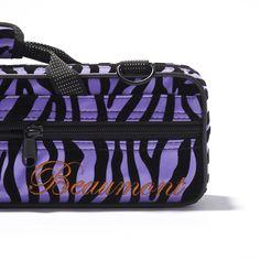 Purple Zebra Flute Case!