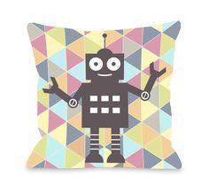 Robbie Robot Throw Pillow