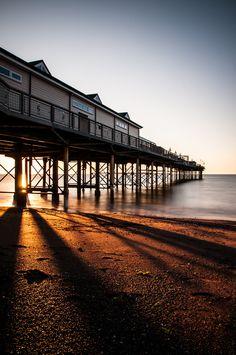 Teignmouth Pier Dawn, Devon, UK