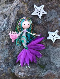 Excited to share this item from my shop: Handmade Little Mermaid Ornament Flower Fairy Doll Under the Sea Theme Mermaids Ocean Lover Multi Green Hair Bendy Doll Beach Decor Pipe Cleaner Fairies, Pipe Cleaner Crafts, Little Mermaid Doll, Mermaid Dolls, Mermaid Ornament, Fairy Crafts, Nautical Gifts, Felt Fairy, Unicorn Crafts