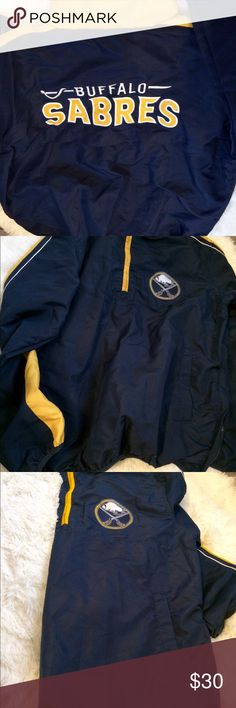 Buffalo Sabres New Windjacket Pullover New never worn, Buffalo Sabres Windjacket. Brand listed on the tag. sports by Carl Banks Jackets & Coats Windbreakers