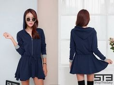 NEW ARRIVAL!  Trendy Hooded Short Dress for only ₱ 499.00!  Click here to order: http://www.shopthiseasy.com/shops/trendy-hooded-short-dress-2c720.html