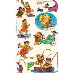 Flintstones Vintage Stickers (1 sheet)