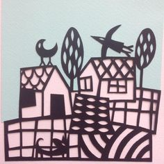 collage and coloured paper cut