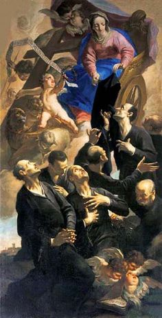 """Op. Memorial-Feb. 17: Seven Founders of the Servants of Mary (Servites) – Founded 15 August 1233 - """"The Servite Order is one of the five original Catholic mendicant orders. It's objectives are the sanctification of its members, preaching the Gospel and the propogation of devotion to the Mother of God, with special reference to her sorrows...."""" ~ AnaStpaul"""