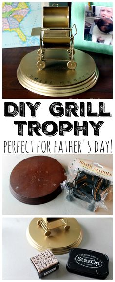 Make this Father's Day gift in minutes! A DIY grill trophy is a perfect gift for Dad!
