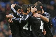 TEAMWORK A good @chelseafc team move is finished by