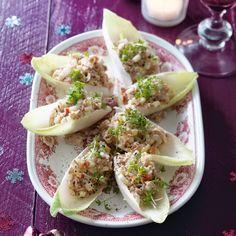 Witlofbootje met frisse tonijnsalade