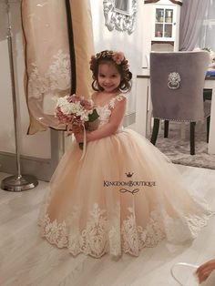 Wonderful Perfect Wedding Dress For The Bride Ideas. Ineffable Perfect Wedding Dress For The Bride Ideas. Cute Flower Girl Dresses, Little Girl Dresses, Girls Dresses, Lace Flower Girls, Wedding Attire, Wedding Gowns, Baby Dress, The Dress, Bridal Dresses