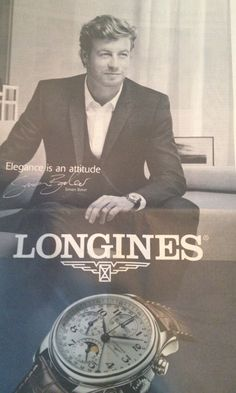 Simon Baker for Longines Watches-Have one. a courtesy of very kind Lady....