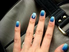 Anchors Away nail art via Preposterously's Nail Blog