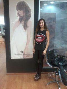 Laura Bruni en Cool Cuts Hair Studio sucursal Barrio Norte.