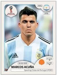 Marcos Acuna of Argentina. 2018 World Cup Finals card. World Cup Russia 2018, World Cup 2018, Fifa World Cup, Uefa Football, Football Players, Soccer Cards, Baseball Cards, Premier League, Argentina World Cup