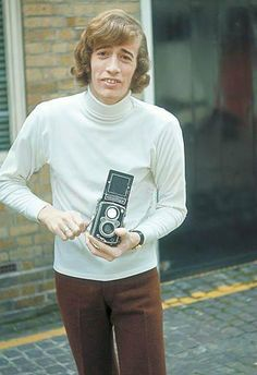 Robin with camera Kara Dioguardi, I Love Him, My Love, Super Images, Andy Gibb, Normal Life, My One And Only, S Pic, Make Me Smile