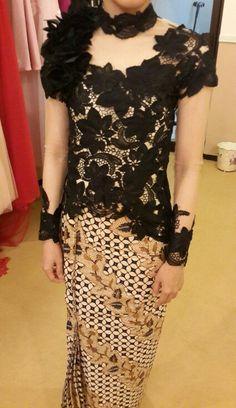 Black Kebaya & batik. Sometimes I see kebaya as a precursor to a new form of gothic dress.