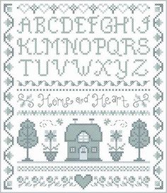 Free Cross Stitch Sampler Patterns | Home and Heart Delft Sampler Cross Stitch Pattern samplers
