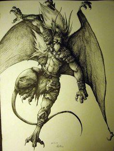 Brooklyn - Gargoyles by charcoal-almighty on DeviantArt - My most beautiful tattoo list Gargoyles Characters, Gargoyles Cartoon, Disney Gargoyles, Fantasy Characters, Gargoyles Brooklyn, Tattoo Homme, Deviantart, Gargoyle Tattoo, Dragon Tattoo Designs