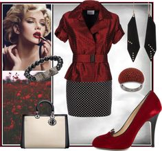 """""""Red & Black"""" by louise-stuart on Polyvore"""