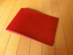 本革スケッチブック。ショルダーバッグの革を使用。