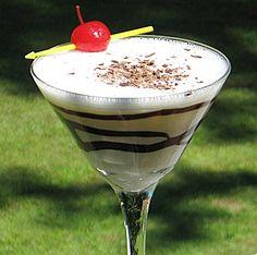 Banana Banshee: 1oz banana liqueur 1oz white crème de cacao 2oz cream nutmeg chocolate(optional)