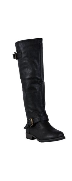459e7a3aebe8e8 All Studded Up Zip Back Boot in Black